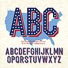 Alphabet für 4. Juli