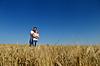 Glückliche Paar im Weizenfeld | Stock Photo