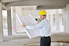 Architect on construction site | Stock Foto