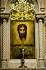 Saint Patrick`s Cathedral. Mosaic of Veronica`s Veil | Stock Foto