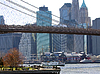 Brooklyn Bridge New York und East River | Stock Foto