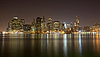 Manhattan Skyline bei Night Lights | Stock Foto