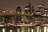 Downtown von Manhattan bei Nacht | Stock Foto