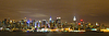 Skyline von New York, Manhattan, Panorama bei Nacht | Stock Foto