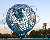 Globe Sculpture In Corona Park of Queens | Stock Foto