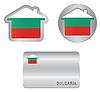 Home-Symbol auf dem bulgarischen Flagge