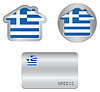 Home-Symbol auf Griechenland-Flagge
