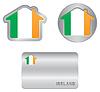 Home-Symbol auf Irland-Flagge