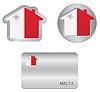 Home-Symbol auf Malta Flagge