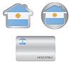 Home-Symbol auf Argentinien-Flagge