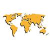 Rosige Weltkarte | Stock Vektrografik