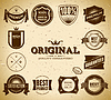 Set von Vintage-Etiketten | Stock Vektrografik