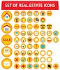 Set von 56 Immobilien-Icons