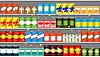 Półki dla supermarketów z pola | Stock Vector Graphics