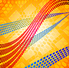 Mosaik Linien über Hexagonalgitter