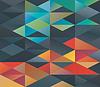 Buntes Muster von Dreiecken | Stock Vektrografik