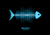 Sonar Wellenform Fische | Stock Vektrografik