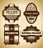 Set von großen Vintage-Etiketten