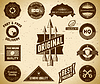 Vintage labels. Sammlung | Stock Vektrografik