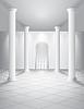 Weiß Halle mit Säulen