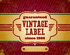 Aged Vintage-Label