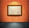 Backsteinmauer mit Rahmen