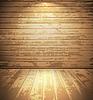 Licht Raum aus Holz