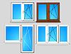 Set Fenster Vorlagen | Stock Vektrografik