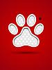 Vektor Cliparts: Schneiden Tier-Fußabdruck