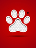 Schneiden Tier-Fußabdruck | Stock Vektrografik