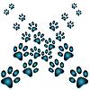 Vektor Cliparts: Hintergrund der Spuren von Tieren