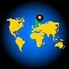 rosige Weltkarte