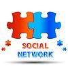 Soziales Netzwerk | Stock Vektrografik
