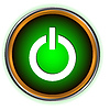 Leistung grünen Kreis logo | Stock Vektrografik