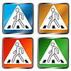 Fußgängerüberweg Zeichen