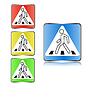 Fußgängerübergang Zeichen