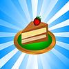 Stück Schokoladenkuchen | Stock Vektrografik