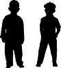 Silhouetten von Kindern | Stock Illustration