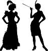 Silhouetten von Frauen aus Kabarett | Stock Illustration