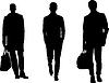 Silhouette Mode für Männer | Stock Illustration
