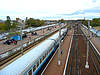 Blick auf Bahnhof und Zug | Stock Foto