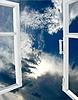 Geöffneten Fenster in den Himmel | Stock Foto
