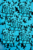 ID 3598576 | Set von Silhouetten von Vögeln auf blauem Hintergrund | Illustration mit hoher Auflösung | CLIPARTO