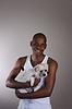 Smiling African Mann mit Hund | Stock Foto