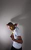 African american Teenager posiert | Stock Foto