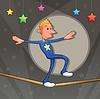 ID 3473556 | 是走在搞笑equilibrist的走钢丝 | 向量插图 | CLIPARTO