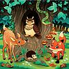 ID 3473558 | Tiere im Wald | Stock Vektorgrafik | CLIPARTO