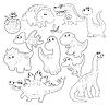 ID 3477001 | 恐龙家族 | 高分辨率插图 | CLIPARTO