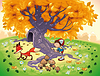 ID 3497563 | Chłopiec i Fox w drewnie | Klipart wektorowy | KLIPARTO