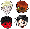 Zombie, Werewolf, Devil and Vampire